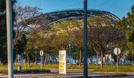 阿尔加威橄榄球场的建筑细节 免版税库存图片