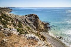 阿尔加威海岸线,葡萄牙 免版税库存图片