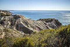 阿尔加威海岸线,葡萄牙 库存照片
