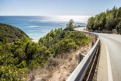 阿尔加威海岸线,葡萄牙 图库摄影