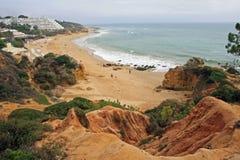 阿尔加威海岸,阿尔布费拉,葡萄牙 免版税库存图片