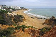 阿尔加威海岸,阿尔布费拉,葡萄牙 图库摄影