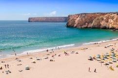 阿尔加威海滩 免版税库存图片