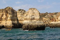 阿尔加威,著名区域在葡萄牙 免版税库存图片
