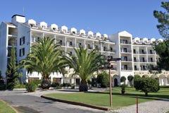 阿尔加威,葡萄牙- Hotel Le Meridian Penina高尔夫球手段 图库摄影