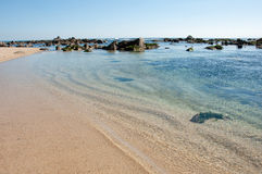 阿尔加罗沃海滩 库存图片