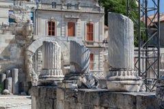 阿尔勒罗马剧院普罗旺斯法国 库存图片