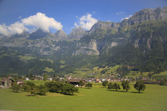 阿尔卑斯。瑞士 库存照片