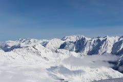 阿尔卑斯全景在瑟尔登,奥地利 图库摄影
