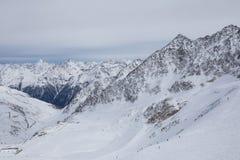 阿尔卑斯全景在瑟尔登,奥地利 库存照片