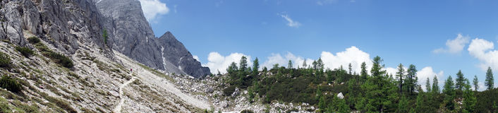 阿尔卑斯全景  库存图片