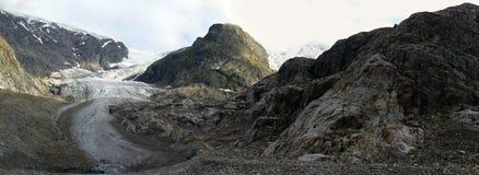 阿尔卑斯冰川 免版税库存图片
