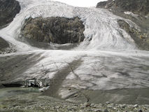 阿尔卑斯冰川stubai sulzenauferner 图库摄影