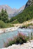 阿尔卑斯冰河意大利谷valnontey 免版税库存照片