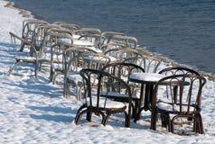 阿尔卑斯包括房子场面小的雪瑞士冬天森林 免版税库存图片