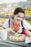 阿尔卑斯午餐 免版税库存照片