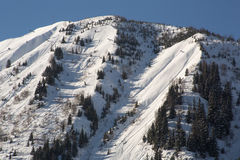 阿尔卑斯在冬天- 15 免版税库存照片