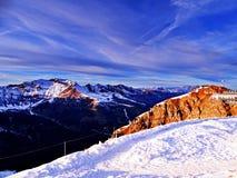 阿尔卑斯在冬天 免版税库存照片