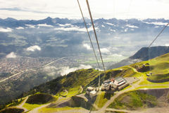 阿尔卑斯在因斯布鲁克 库存照片