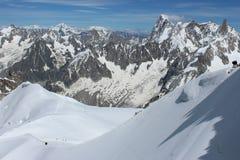 阿尔卑斯在夏天 库存照片