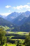 阿尔卑斯在提洛尔,奥地利 图库摄影