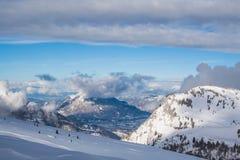 阿尔卑斯在法国 免版税图库摄影