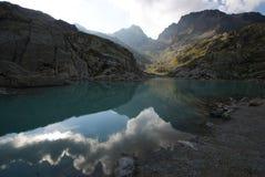 阿尔卑斯在Mt附近观看 责备 库存图片