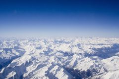 阿尔卑斯多雪的瑞士 免版税库存图片