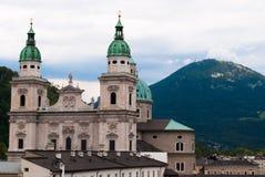 阿尔卑斯大教堂萨尔茨堡 库存图片