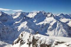 阿尔卑斯天空视图 免版税库存照片