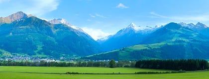 阿尔卑斯奥地利全景夏天 免版税库存图片