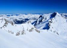 阿尔卑斯奥地利风景 免版税库存照片