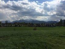 阿尔卑斯奥地利kaprun看见滑雪倾斜zell 免版税库存图片