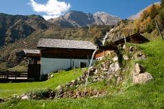 阿尔卑斯小河 库存照片