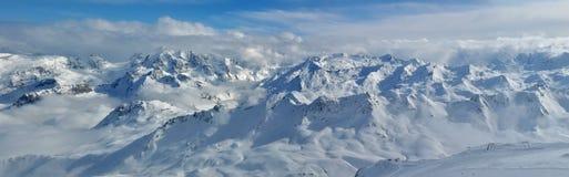 阿尔卑斯山全景 免版税库存照片
