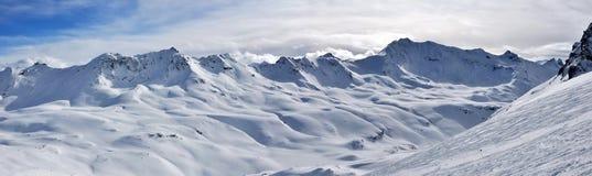 阿尔卑斯山全景 免版税库存图片