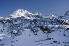 阿尔卑斯山在意大利 免版税库存照片