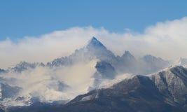 阿尔卑斯山在意大利 库存照片