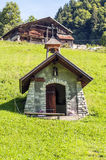 阿尔卑斯山的教堂 图库摄影