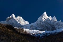 阿尔卑斯峰顶范围 库存照片