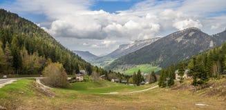 阿尔卑斯幽谷 免版税图库摄影