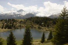 阿尔卑斯弗利克斯的看法 免版税库存照片