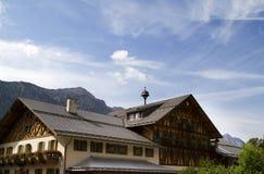 阿尔卑斯德国小屋 库存图片