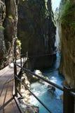 阿尔卑斯德国峡谷leutasch 免版税库存照片
