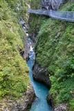 阿尔卑斯德国峡谷leutasch 库存照片