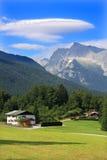 阿尔卑斯房子 库存照片