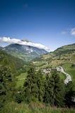 阿尔卑斯横向瑞士 库存照片