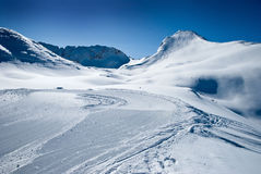 阿尔卑斯横向 库存图片