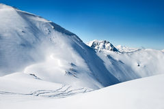阿尔卑斯横向 免版税库存图片