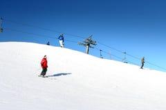 阿尔卑斯滑雪 免版税图库摄影